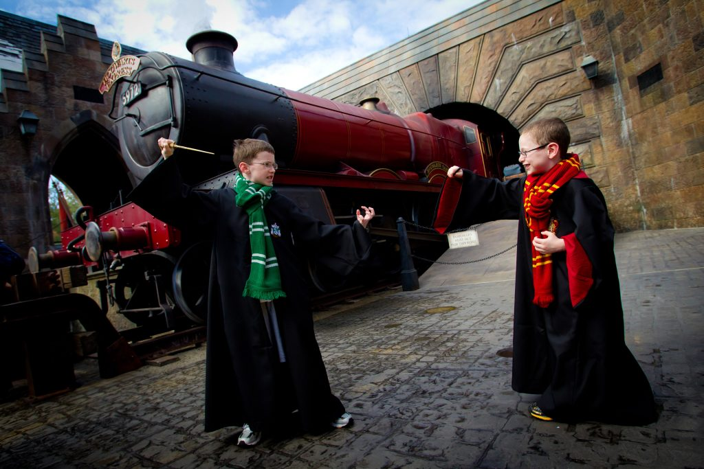 The Hogwarts Express has arrived at Hogsmeade Station at The Wizarding World of Harry Potter at Universal Orlando Resort. As guests enter Hogsmeade, they are greeted by the iconic, smoke-billowing steam engine, made famous in the Harry Potter books and films for transporting students to a world of magic and wonder.
