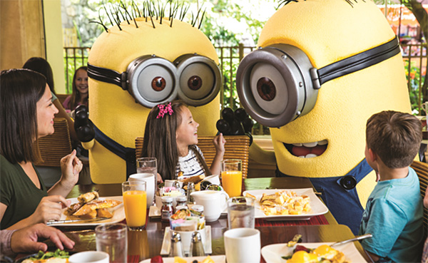 Despicable Me Character Breakfast